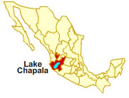 Map of Lake Chapala Mexico